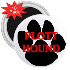 Plott Hound Name Paw 3  Magnets (10 pack)