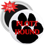 Plott Hound Name Paw 3  Magnets (100 pack) Front