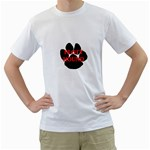 Plott Hound Name Paw Men s T-Shirt (White) (Two Sided) Front
