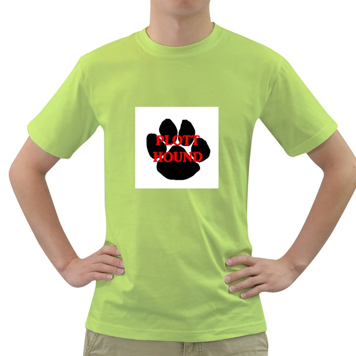 Plott Hound Name Paw Green T-Shirt