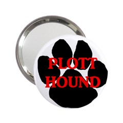 Plott Hound Name Paw 2.25  Handbag Mirrors