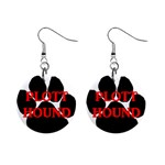 Plott Hound Name Paw Mini Button Earrings Front