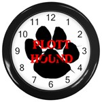 Plott Hound Name Paw Wall Clocks (Black) Front