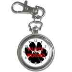 Plott Hound Name Paw Key Chain Watches Front