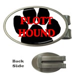 Plott Hound Name Paw Money Clips (Oval)  Front