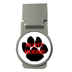 Plott Hound Name Paw Money Clips (Round)