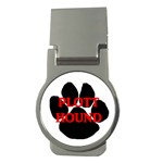 Plott Hound Name Paw Money Clips (Round)  Front