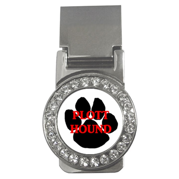 Plott Hound Name Paw Money Clips (CZ)