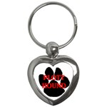 Plott Hound Name Paw Key Chains (Heart)  Front