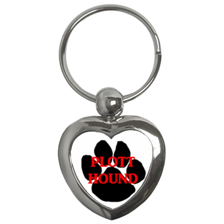 Plott Hound Name Paw Key Chains (Heart)