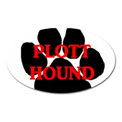 Plott Hound Name Paw Oval Magnet