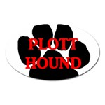 Plott Hound Name Paw Oval Magnet Front