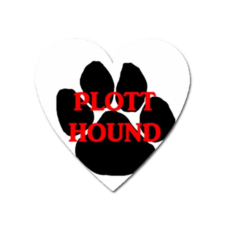 Plott Hound Name Paw Heart Magnet