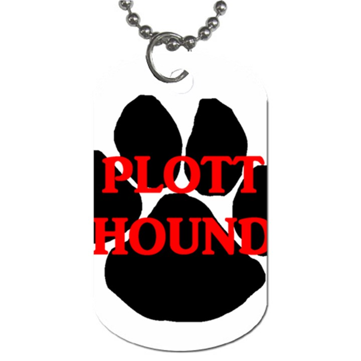 Plott Hound Name Paw Dog Tag (One Side)