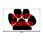 Plott Hound Name Paw Business Card Holders Front