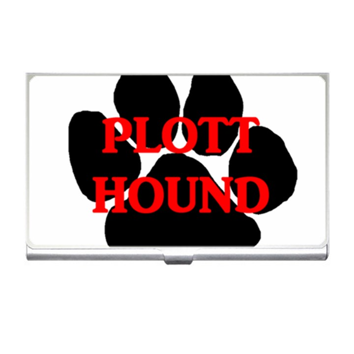 Plott Hound Name Paw Business Card Holders