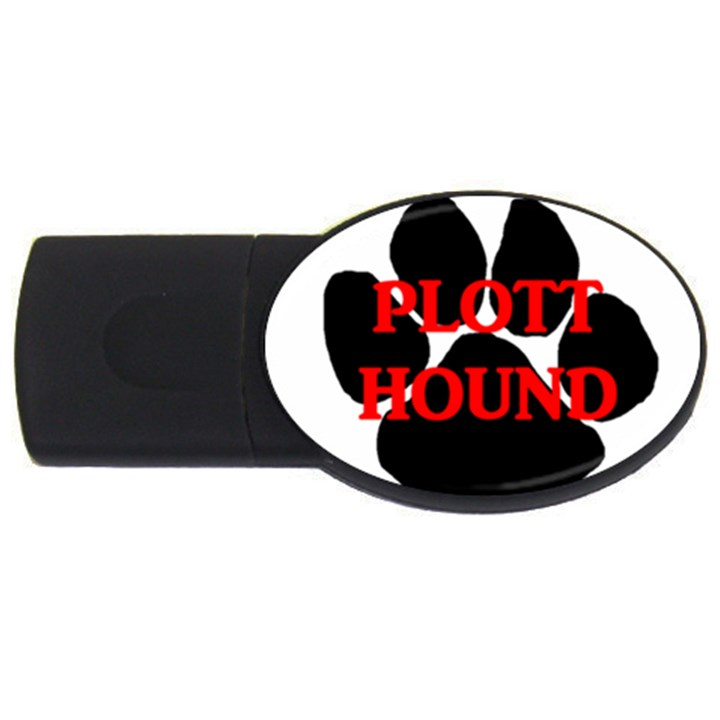 Plott Hound Name Paw USB Flash Drive Oval (1 GB)
