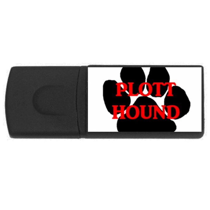 Plott Hound Name Paw USB Flash Drive Rectangular (2 GB)