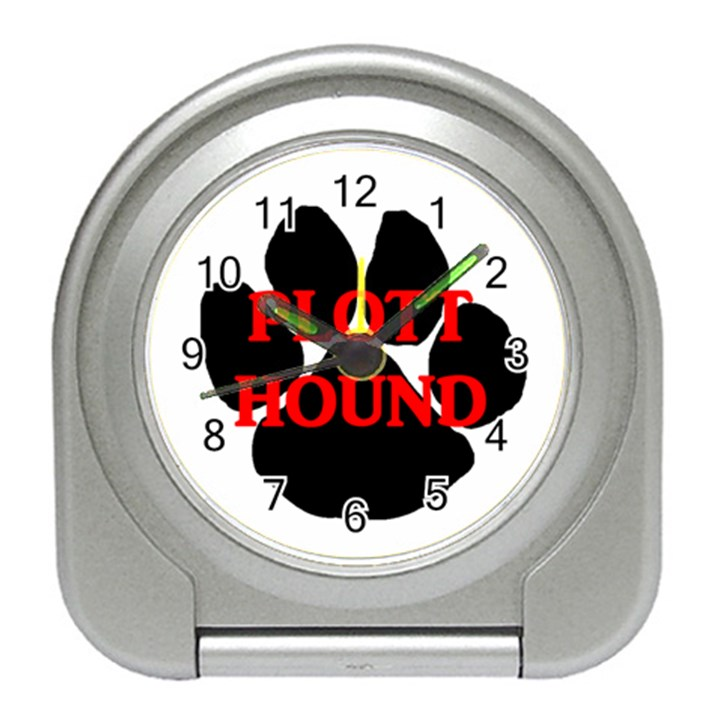 Plott Hound Name Paw Travel Alarm Clocks