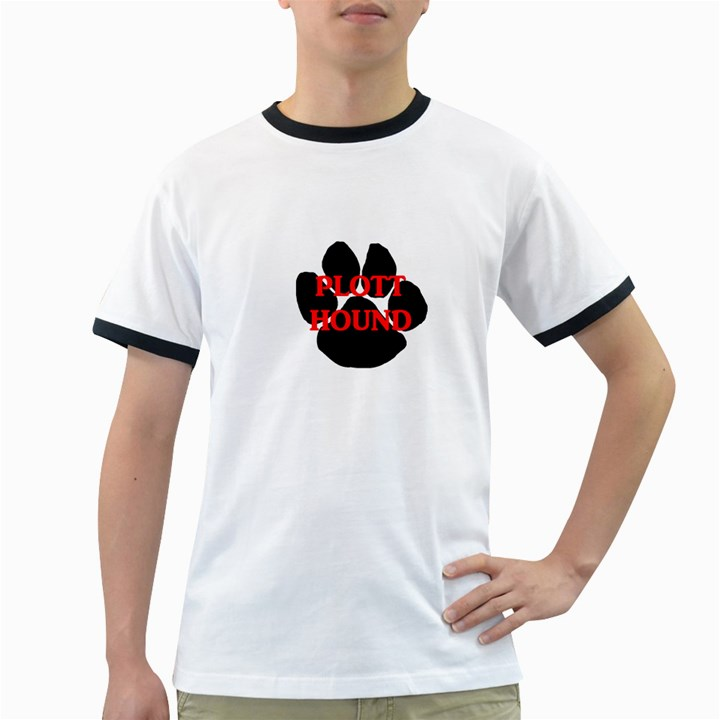 Plott Hound Name Paw Ringer T-Shirts
