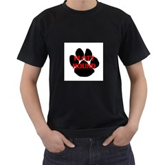 Plott Hound Name Paw Men s T-Shirt (Black) (Two Sided)