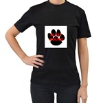 Plott Hound Name Paw Women s T-Shirt (Black) (Two Sided) Front