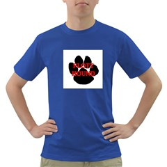 Plott Hound Name Paw Dark T Shirt