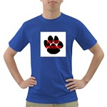 Plott Hound Name Paw Dark T-Shirt Front