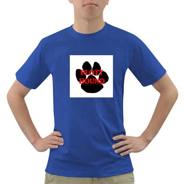Plott Hound Name Paw Dark T-Shirt