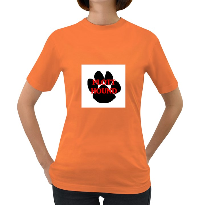 Plott Hound Name Paw Women s Dark T-Shirt