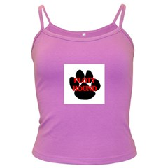 Plott Hound Name Paw Dark Spaghetti Tank