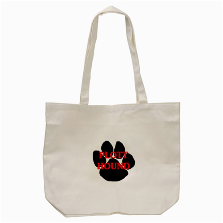 Plott Hound Name Paw Tote Bag (Cream)