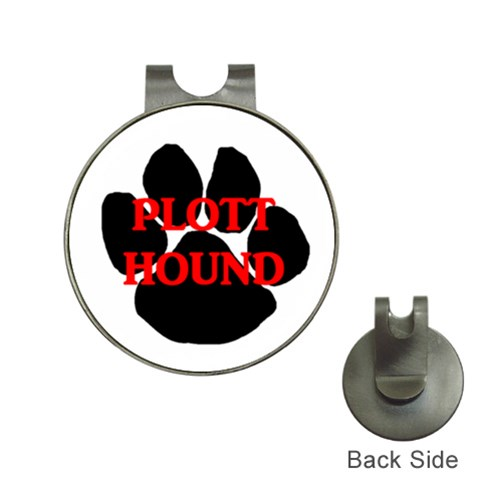 Plott Hound Name Paw Hat Clips with Golf Markers