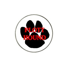 Plott Hound Name Paw Hat Clip Ball Marker