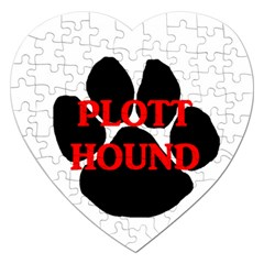 Plott Hound Name Paw Jigsaw Puzzle (Heart)