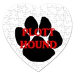 Plott Hound Name Paw Jigsaw Puzzle (Heart) Front