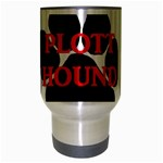 Plott Hound Name Paw Travel Mug (Silver Gray) Center