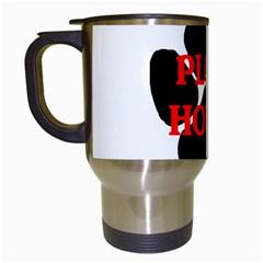 Plott Hound Name Paw Travel Mugs (White)