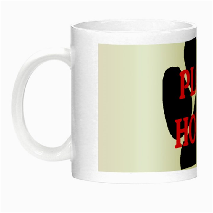 Plott Hound Name Paw Night Luminous Mugs