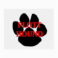 Plott Hound Name Paw Small Glasses Cloth