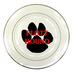 Plott Hound Name Paw Porcelain Plates