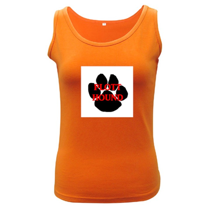 Plott Hound Name Paw Women s Dark Tank Top