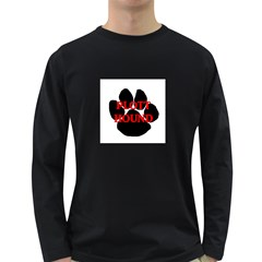 Plott Hound Name Paw Long Sleeve Dark T-Shirts