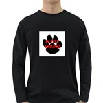 Plott Hound Name Paw Long Sleeve Dark T-Shirts Front