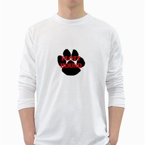 Plott Hound Name Paw White Long Sleeve T-Shirts