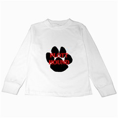 Plott Hound Name Paw Kids Long Sleeve T-Shirts