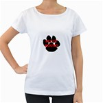 Plott Hound Name Paw Women s Loose-Fit T-Shirt (White) Front