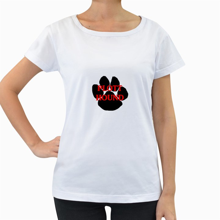 Plott Hound Name Paw Women s Loose-Fit T-Shirt (White)