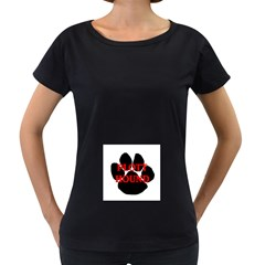 Plott Hound Name Paw Women s Loose-Fit T-Shirt (Black)