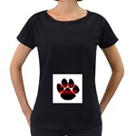 Plott Hound Name Paw Women s Loose-Fit T-Shirt (Black) Front